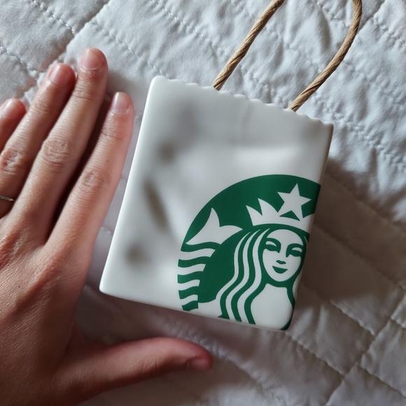 Starbucks Ceramic Card Holder Ornament